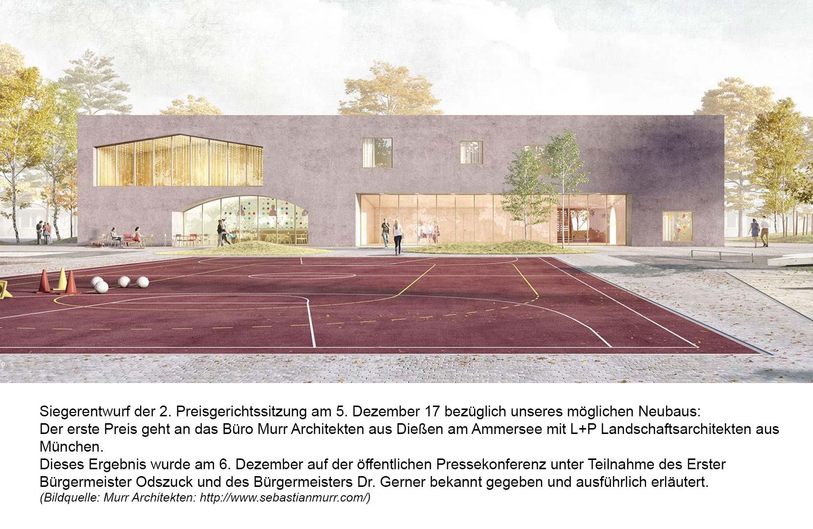 Siegerentwurf Neubau Haus der Jugend: Büro Murr Architekten aus Dießen am Ammersee
