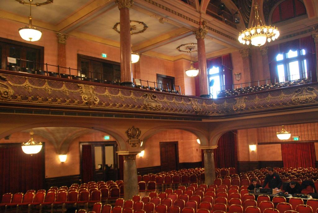 Blick in alte Stadthalle